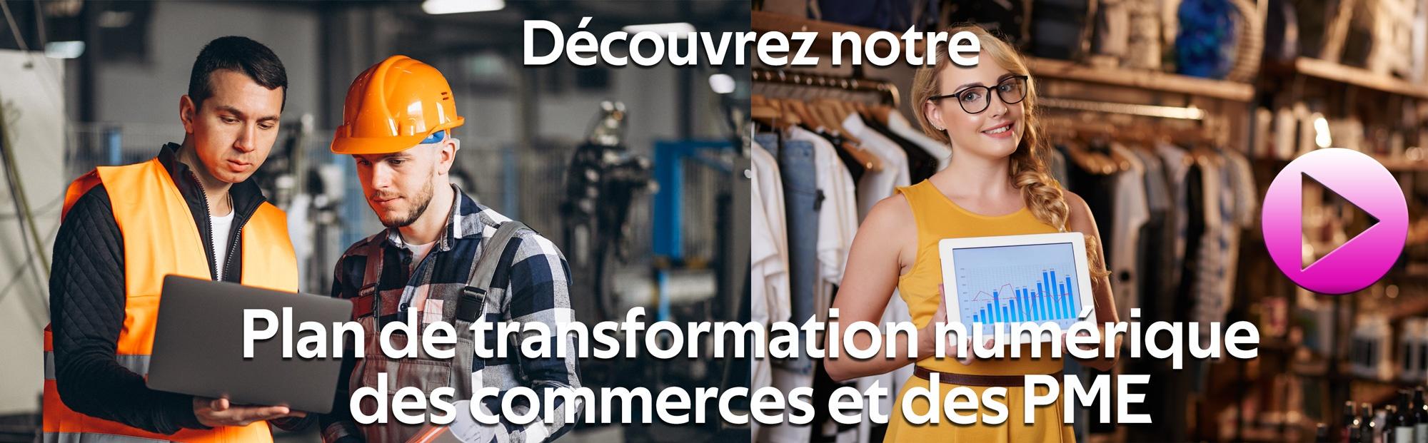 Plan de transformation numérique des commerces et des PME Rouen Normandie Paris Ile-de-France