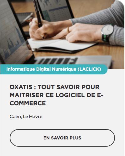 Formation E-commerce Oxatis OPCO CPF prise en charge Région Normandie Commerce TPE PME