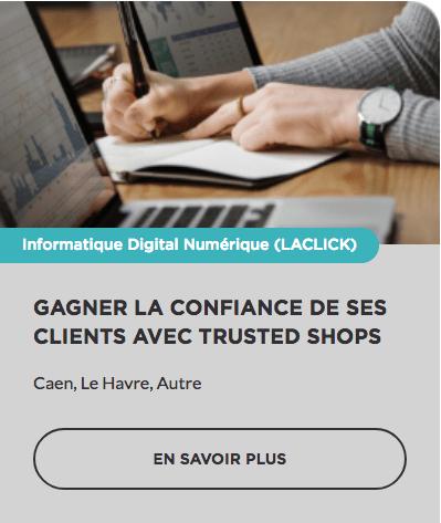 Formation Avis clients Trusted Shops E-réputation E-commerce OPCO CPF prise en charge Région Normandie Commerce TPE PME