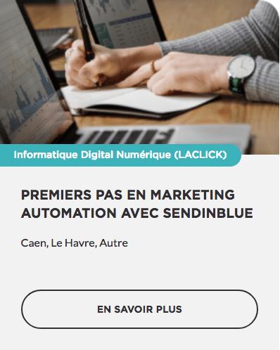 Formation Premiers pas en Marketing Automation avec Sendinblue OPCO CPF prise en charge Région Normandie Commerce TPE PME