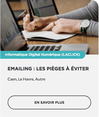 Emailing : les pièges à éviter OPCO CPF prise en charge Région Normandie Commerce TPE PME