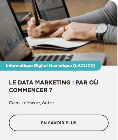 Formation Le Data Marketing : ar où commencer ? OPCO CPF prise en charge Région Normandie Commerce TPE PME