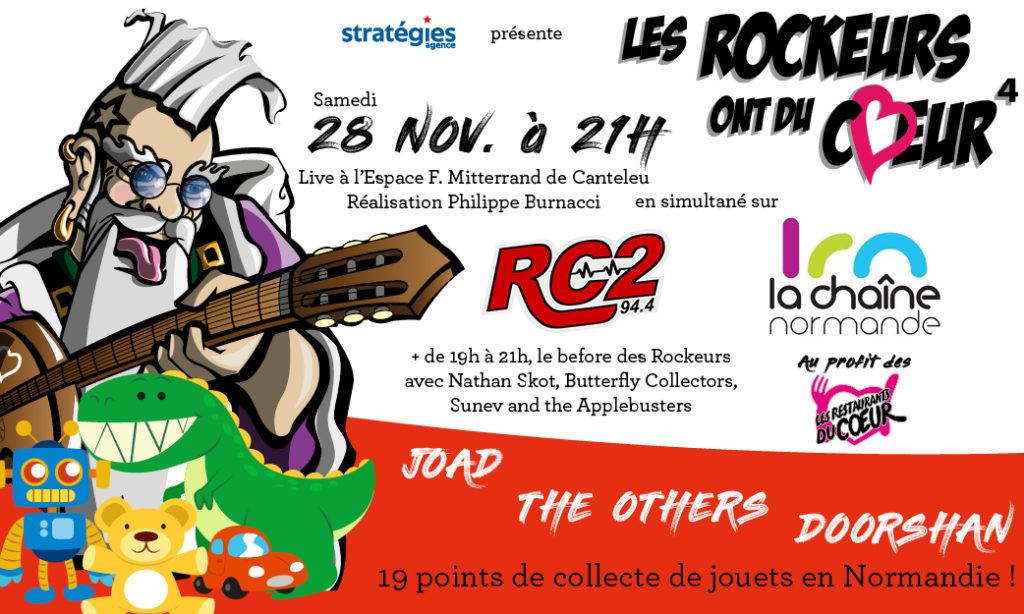 Les Rockeurs ont du Coeur Rouen normandie Restos du Coeur musique artistes