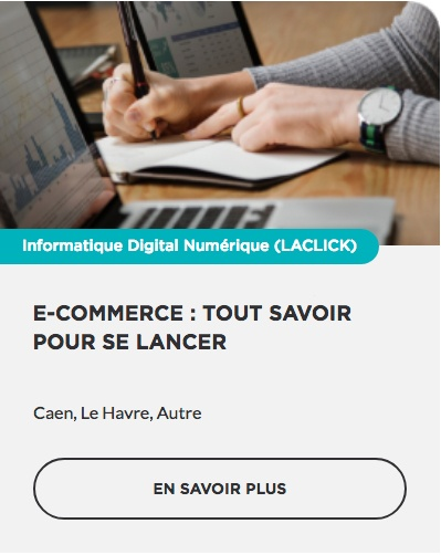 Formation E-commerce Oxatis WordPress Woocommerce Shopify prestashop OPCO CPF prise en charge Région Normandie Commerce TPE PME