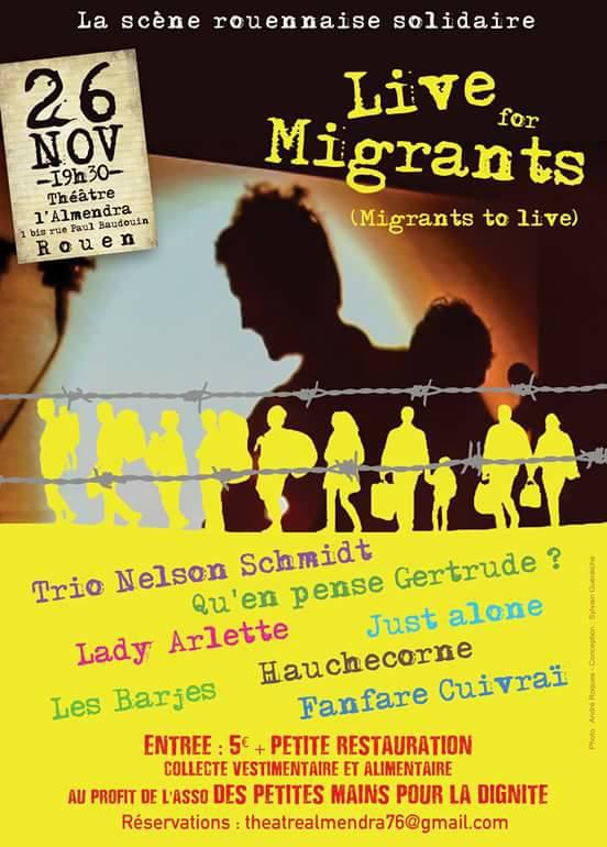 Live for migrants Rouen 2016